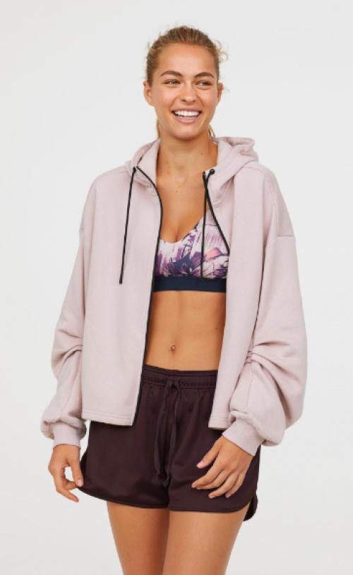 H&M - veste training à capuche manches bouffantes