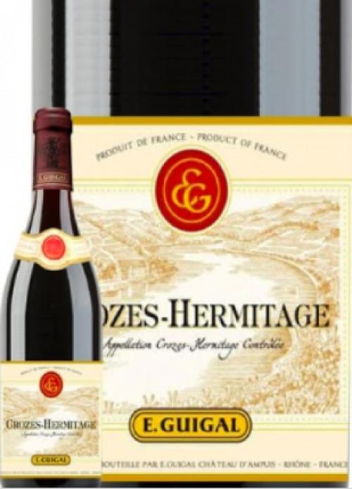 E.Guigal - 6 bouteilles de vin rouge Crozes Hermitage (2015)