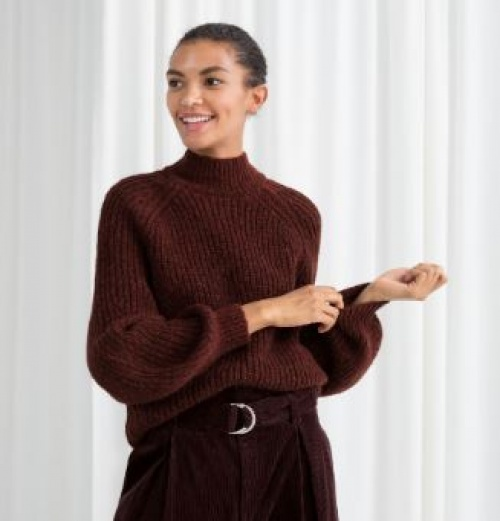 & Other Stories - Gros pull marron