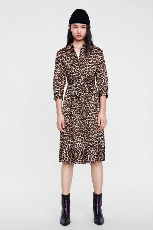 Zara - Robe à imprimé animalier