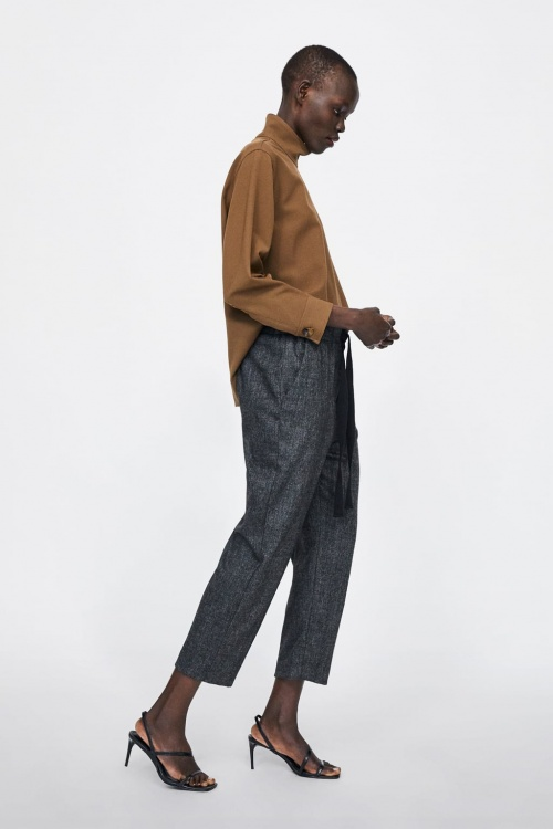 Zara - Pantalon à chevrons