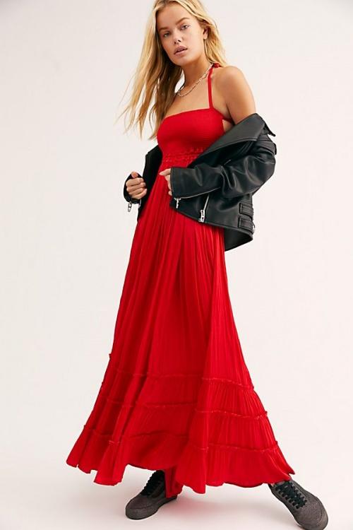 FreePeople - Robe longue rouge