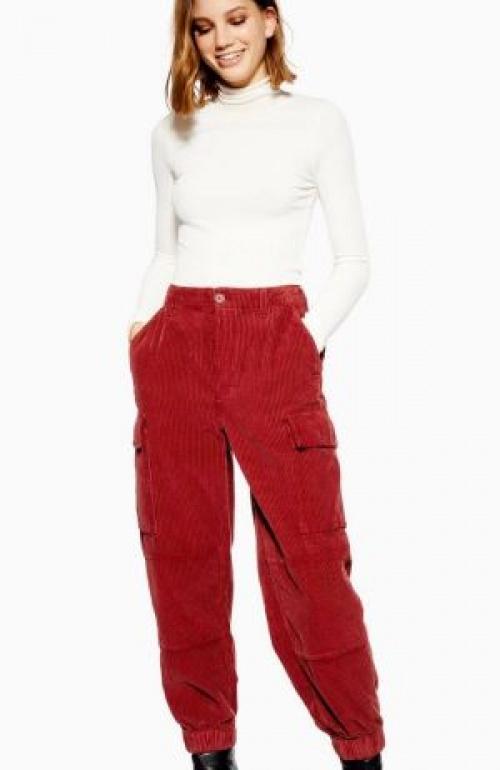 Topshop - Pantalon épais en velours côtelé