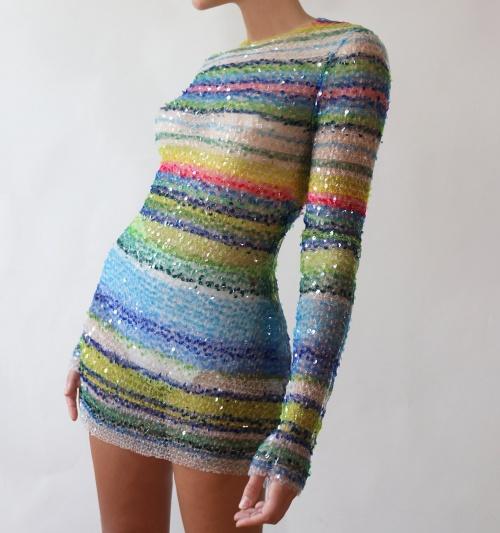 Lirika Matoshi - Robe en sequins