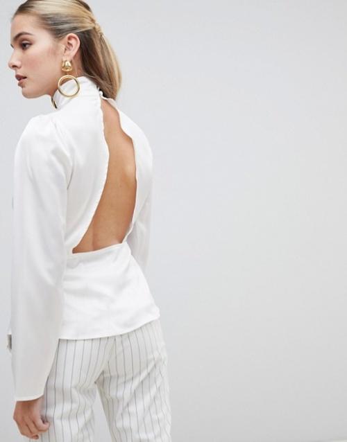 Fashion Union - Blouse à dos ouvert