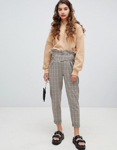 Bershka - Pantalon à carreaux