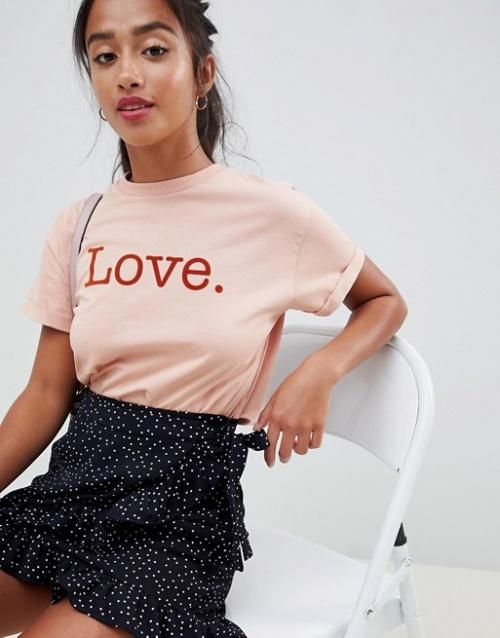 Miss Selfridge Petite - Love - T-shirt