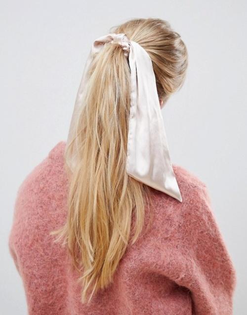 ASOS DESIGN - Chouchou effet foulard