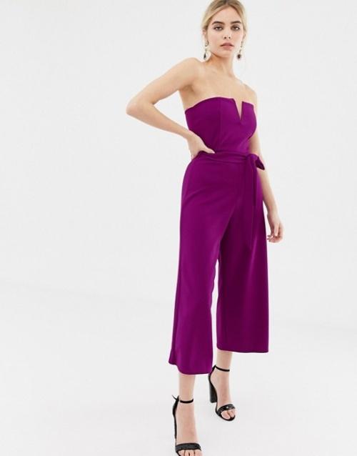 New Look - Combinaison à ceinture - Violet éclatant