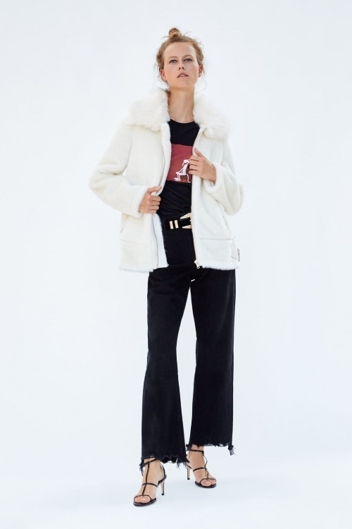 Zara - Manteau de motard