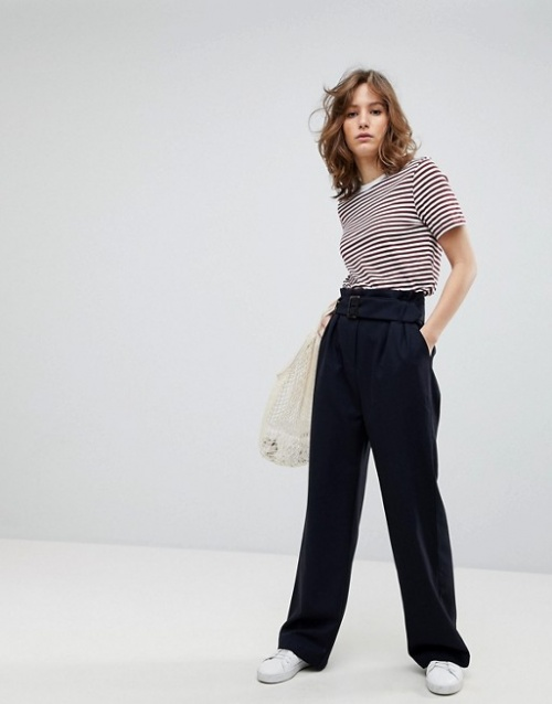 Selected Femme - Pantalon ceinturé