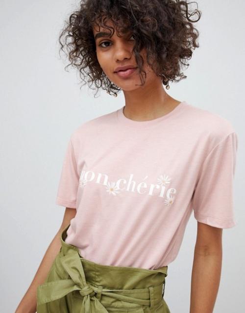 Neon Rose - Mon Cherie - T-shirt décontracté imprimé