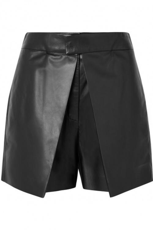 Valentino - Short en cuir à superpositions