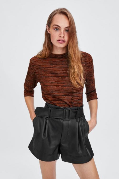 Zara - Short à ceinture