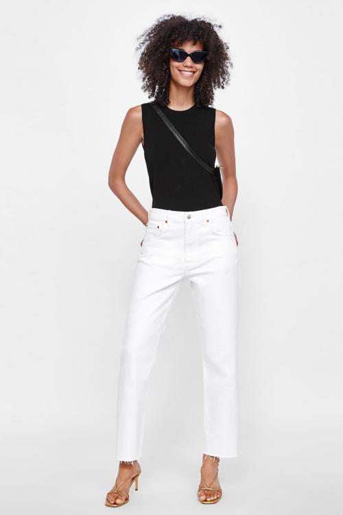 Zara - Jean blanc droit