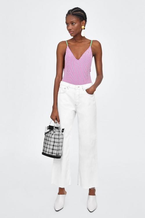 Zara - Jean taille haute court