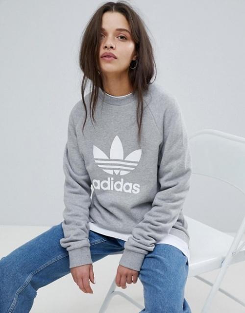 adidas Originals - Sweat-shirt oversize avec trèfle