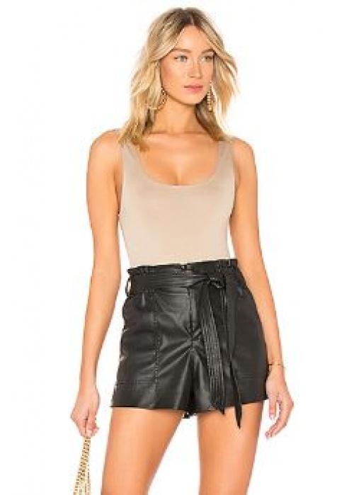 Blanknyc - Short en cuir taille haute