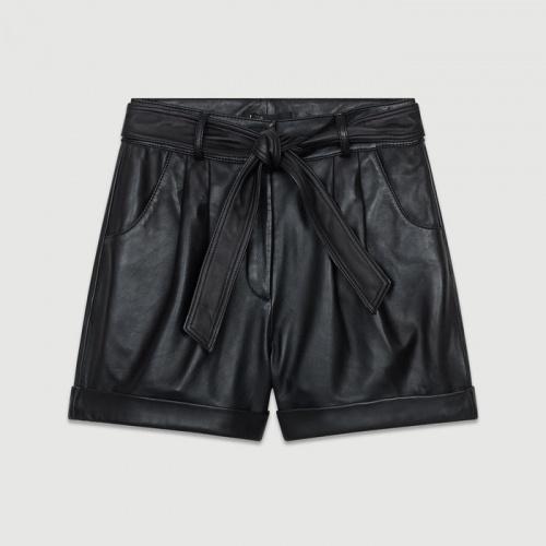 Maje - Short large en cuir