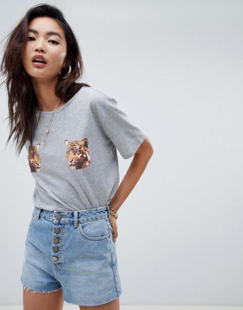 Na-kd - T-shirt avec imprimé tigre