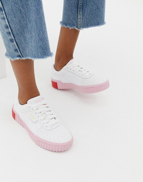 Puma - Cali - Baskets - Blanc et rose