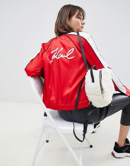Karl Lagerfeld - Veste style universitaire avec logo à ornements