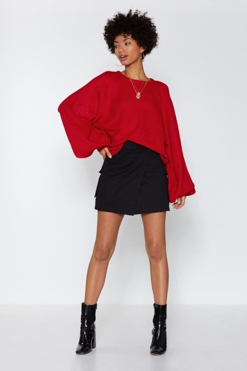 Nasty Gal - Over the Balloon Knit Sweater