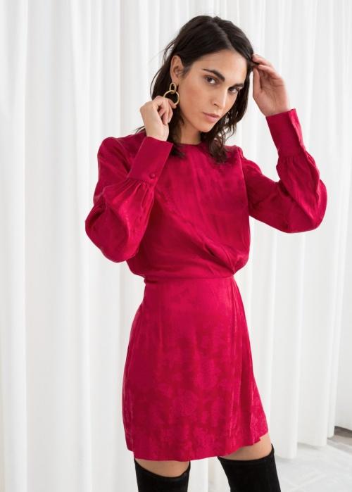Other Stories - Gathered Satin Mini Dress