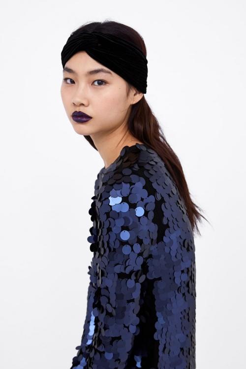 Zara - Serre-tête type turban en velours