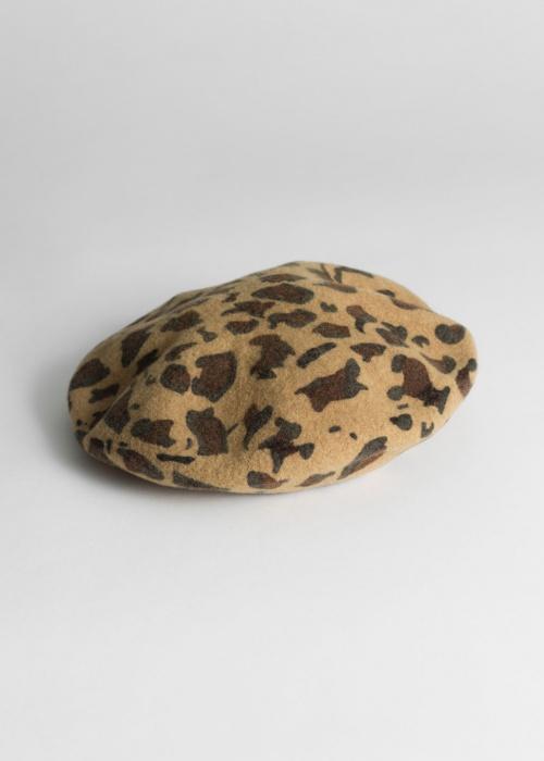 & Other Stories - Béret léopard