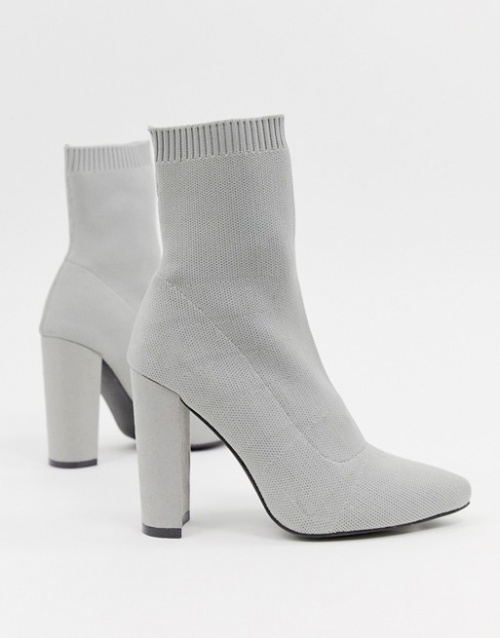 ASOS DESIGN - Eleni - Bottes effet chaussettes en maille
