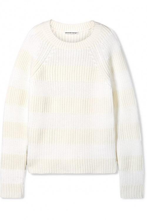 T by Alexander Wang - Pull en laine mélangée à rayures