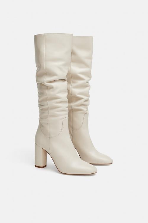 Zara - Bottes à talons en cuir