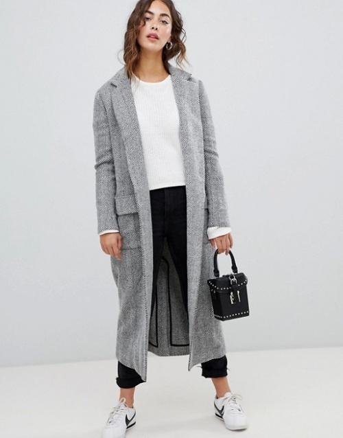 Glamorous - Manteau long à chevrons