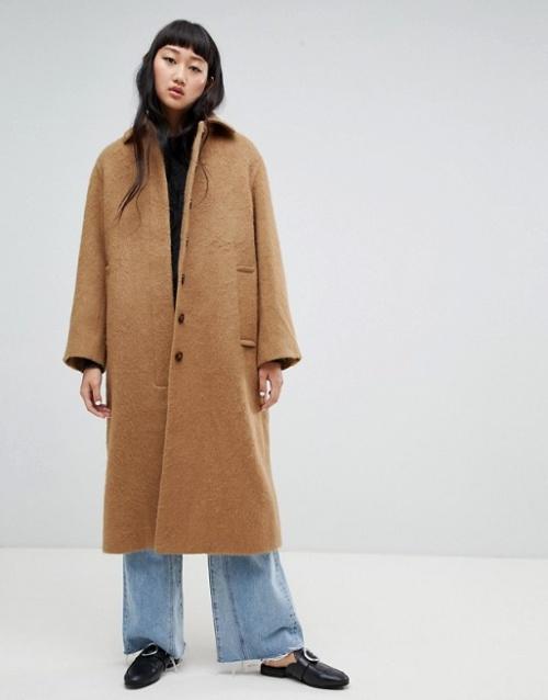 Weekday - Manteau long en laine mohair