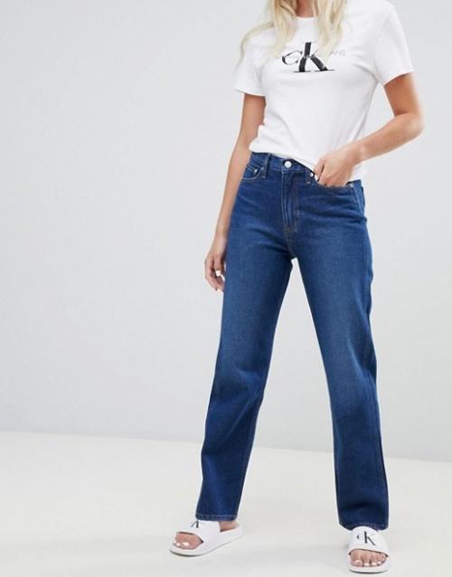 Calvin Klein Jeans - Jean droit taille haute américaine classique