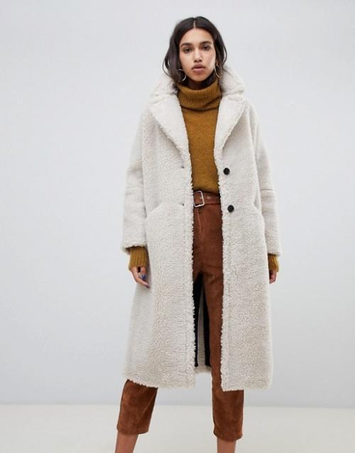 BA&SH - Manteau long en fausse fourrure