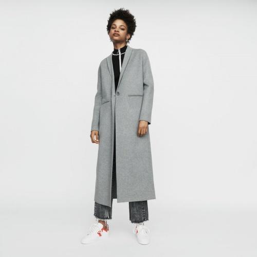 Maje - Galaxy - Manteau long en laine double face