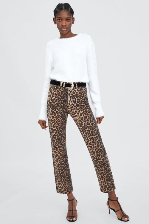 Zara - Jean imprimé léopard