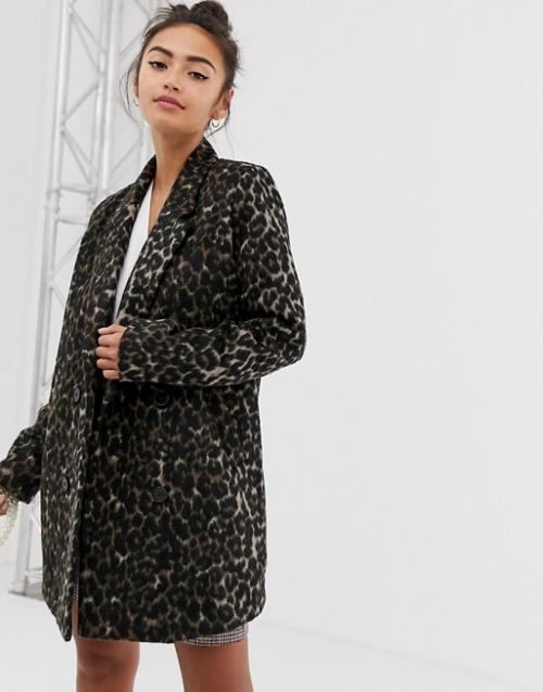 Pimkie - Manteau à imprimé léopard