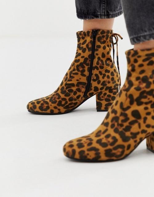 Head Over Heels - Oakley - Bottines à talons motif léopard