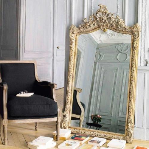 Maisons du Monde - CONSERVATOIRE - Miroir doré 85x153