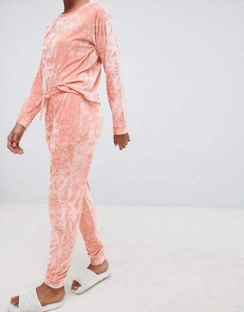 ASOS DESIGN - Pantalon de jogging confort en velours frappé