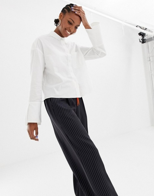 COLLUSION Tall - Chemise droite à manches oversize