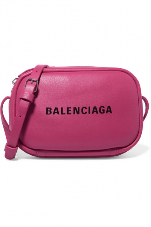 Balenciaga - Sac porté épaule en cuir texturé imprimé Everyday