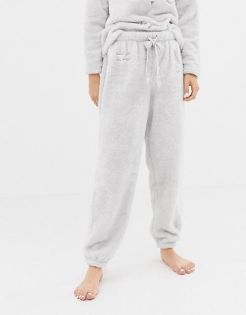 Oysho - Bas de pyjama en polaire à motif lapin