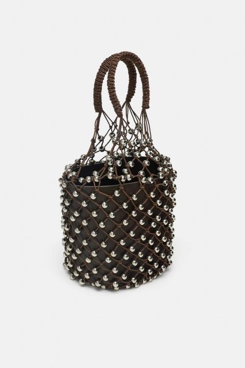 Zara - Shopper en filet avec petites boules