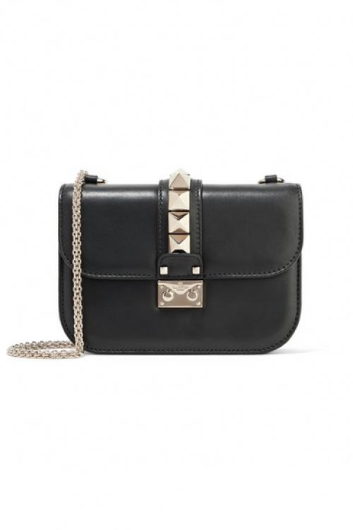 Valentino - Sac porté épaule en cuir Lock Small Valentino Garavani