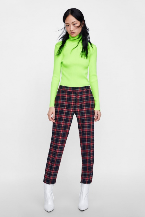 Zara - Pantalon à carreaux