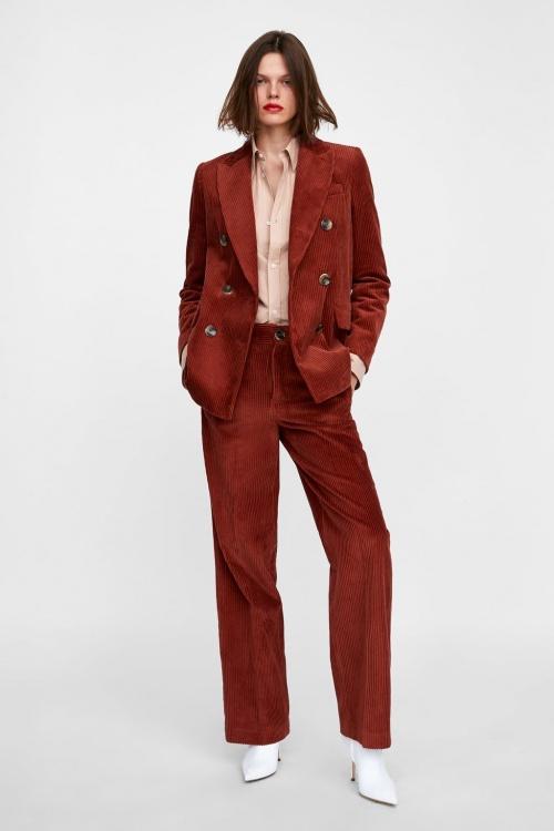 Zara - Pantalon en velours côtelé
